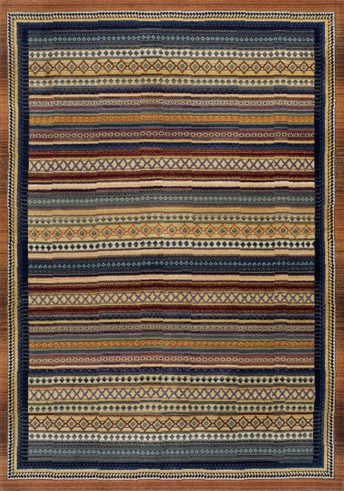 Gabbeh Rug by Oriental Weavers in 933 R Design; produced on a unique loom and uses various colour combinations