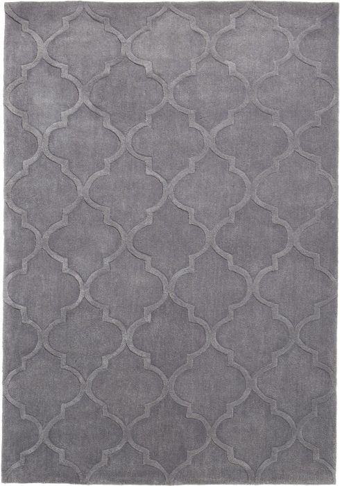 Hong Kong Rug by Think Rugs in 8583 Design, created with just one silver colour throughout
