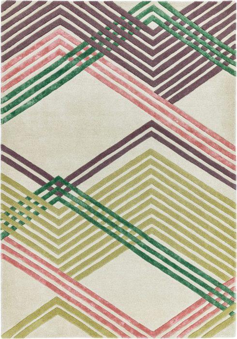 Matrix Rug by Asiatic Carpets in MAX64 Zig Zag Multi Design; contemporary wool hand-tufted design Matrix rug
