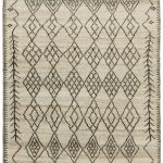 Amira Rug by Asiatic Carpets in AM01 Design has a hand-knotted Moroccan Berber look, washed for a softer look
