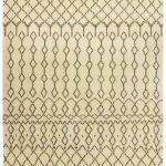 Amira Rug by Asiatic Carpets in AM03 Design has a hand-knotted Moroccan Berber look, washed for a softer look