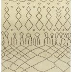 Amira Rug by Asiatic Carpets in AM04 Design has a hand-knotted Moroccan Berber look, washed for a softer look