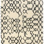 Amira Rug by Asiatic Carpets in AM07 Design has a hand-knotted Moroccan Berber look, washed for a softer look