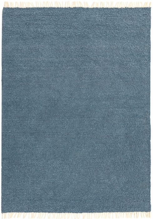 Clover Rug by Asiatic Carpets in Blue Colour; a reversible loop pile rug made from recycled plastic bottles
