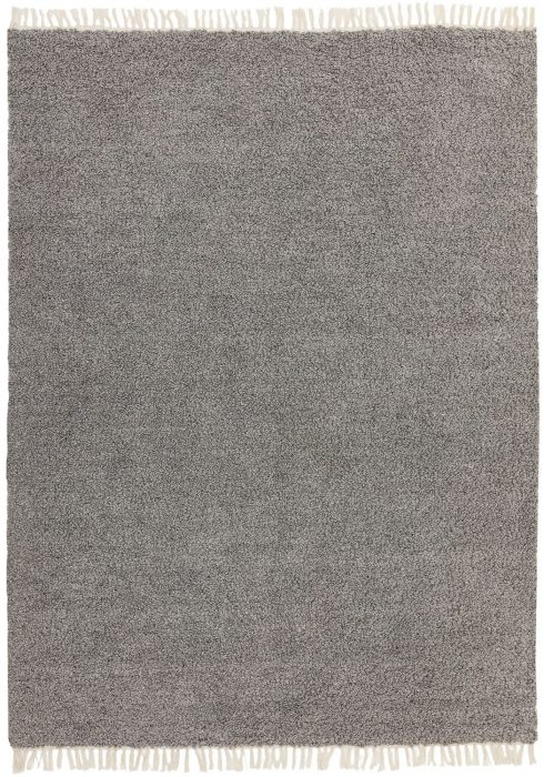 Clover Rug by Asiatic Carpets in Dark Grey Colour; a reversible loop pile rug made from recycled plastic bottles
