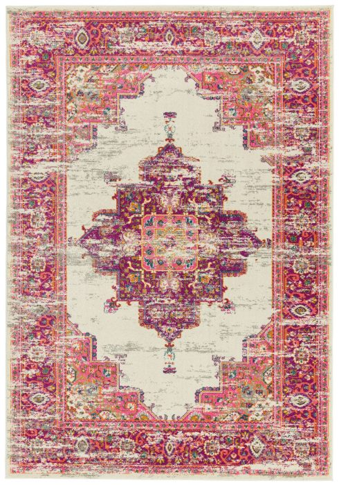 Colt Rug by Asiatic Carpets in CL03 Medallion Pink Design; a combination of modern classics and bold geometrics