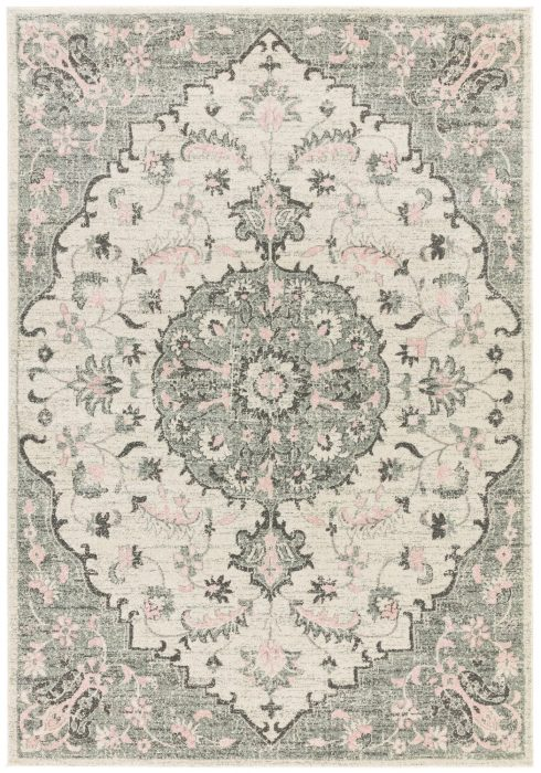 Colt Rug by Asiatic Carpets in CL05 Medallion Cream Design; a combination of modern classics and bold geometrics