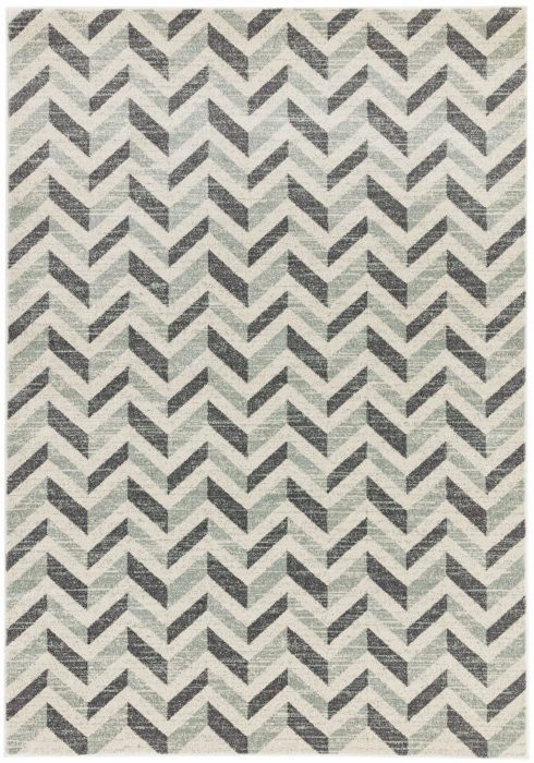 Colt Rug by Asiatic Carpets in CL07 Chevron Grey Design; a combination of modern classics and bold geometrics