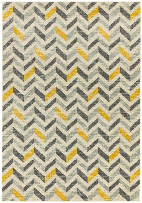 Colt Rug by Asiatic Carpets in CL08 Chevron Mustard Design; a combination of modern classics and bold geometrics