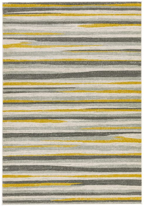 Colt Rug by Asiatic Carpets in CL10 Stripe Mustard Design; a combination of modern classics and bold geometrics