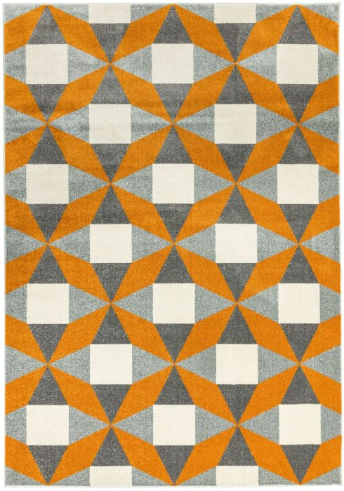 Colt Rug by Asiatic Carpets in CL13 Fan Rust Design; a combination of modern classics and bold geometrics