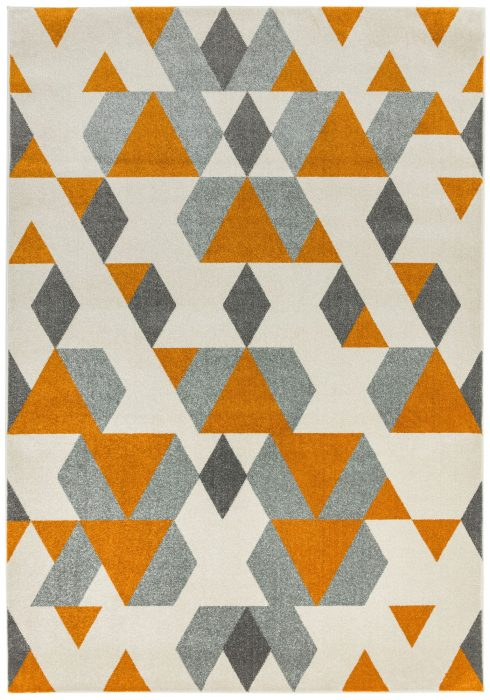 Colt Rug by Asiatic Carpets in CL16 Pyramid Rust Design; a combination of modern classics and bold geometrics
