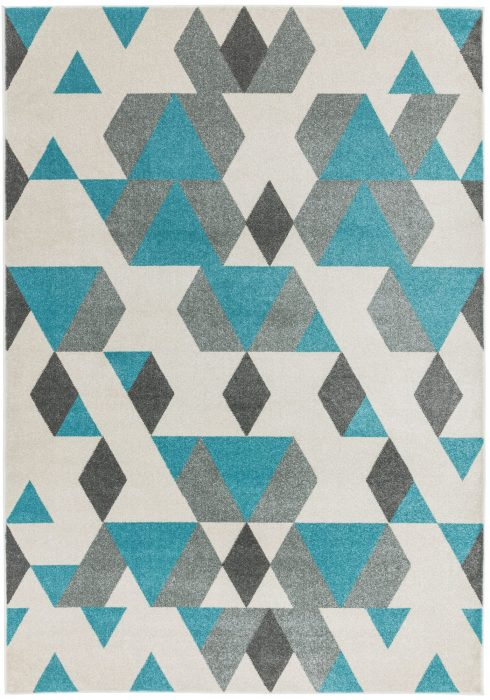 Colt Rug by Asiatic Carpets in CL17 Pyramid Blue Design; a combination of modern classics and bold geometrics