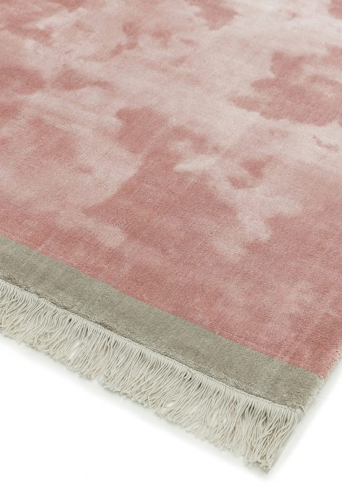 Elgin Pink Silver Rug - Roomset shot