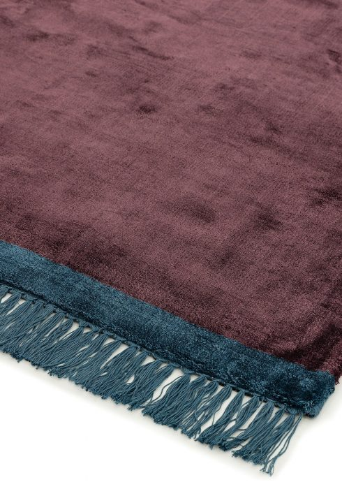 Elgin Plum Blue Rug - Roomset shot