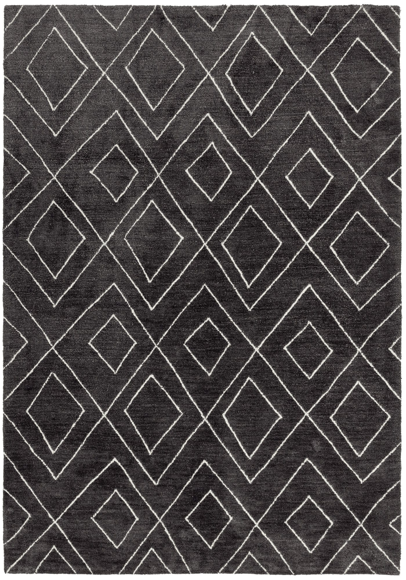 Nomad Rug By Asiatic Carpets Colour Dark Grey Nm01 Rugs Uk