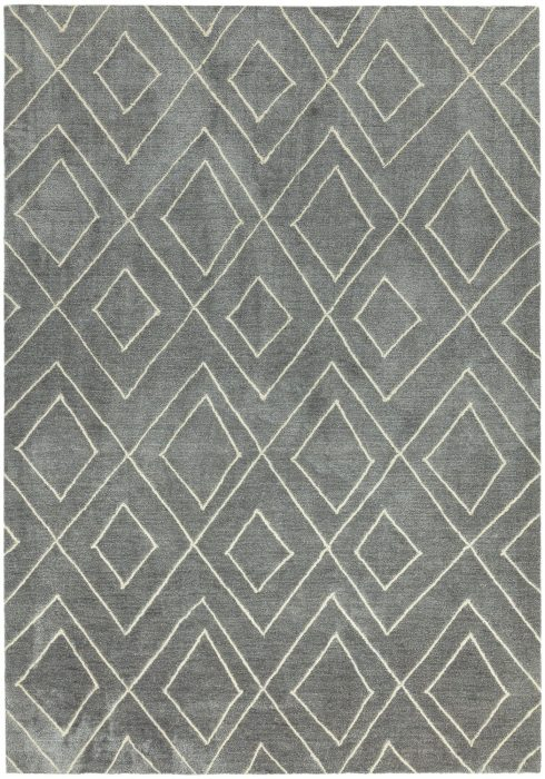 Nomad Rug by Asiatic Carpets in NM04 Silver Colour; a Berber style design rug with a softness of touch