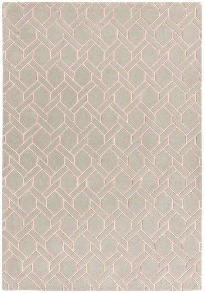 Nexus Fine Lines Silver Pink Rug