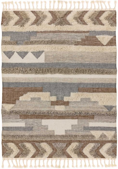 Paloma Kelim Rug by Asiatic Carpets in PA03 Tangier Design has hand-woven Kelims featuring areas of high pile