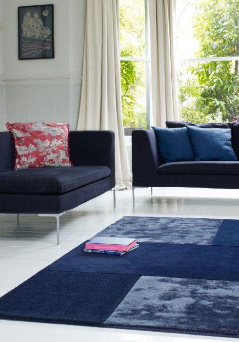 Tate Blue Rug Roomset