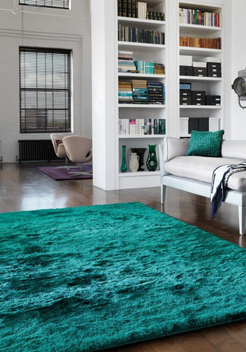 Whisper Teal Rug Roomset