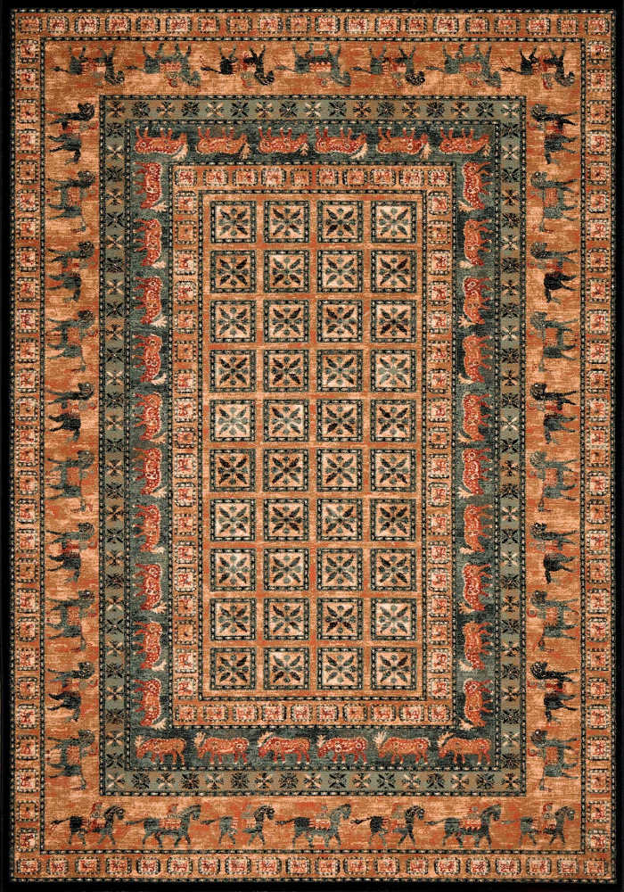 Kashqai Rug by Mastercraft Rugs in 4301 500 Design; made with environmentally friendly T5 100% worsted yarn wool