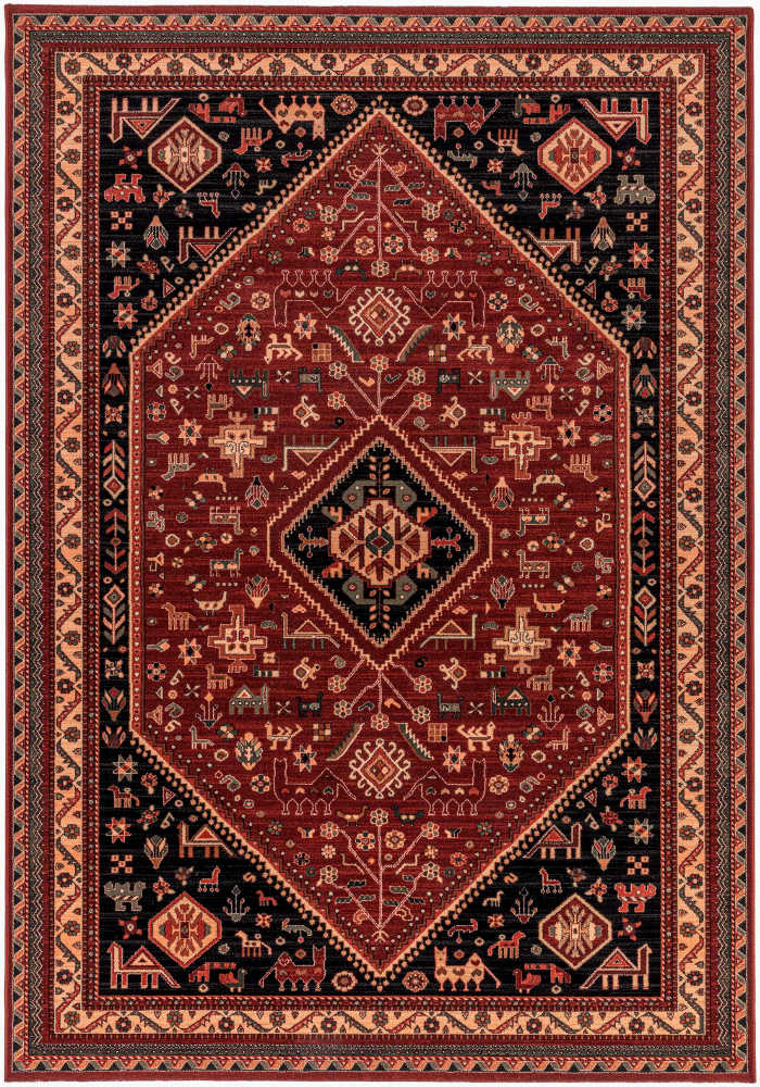 Kashqai Rug by Mastercraft Rugs in 4364 301 Design; made with environmentally friendly T5 100% worsted yarn wool
